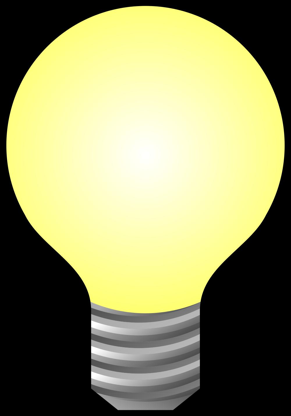 Lightbulb clipart light source, Lightbulb light source.