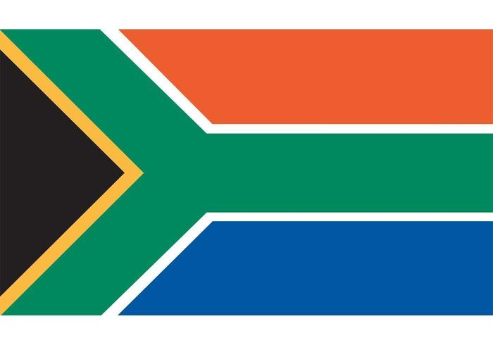 South African Flag Vector.