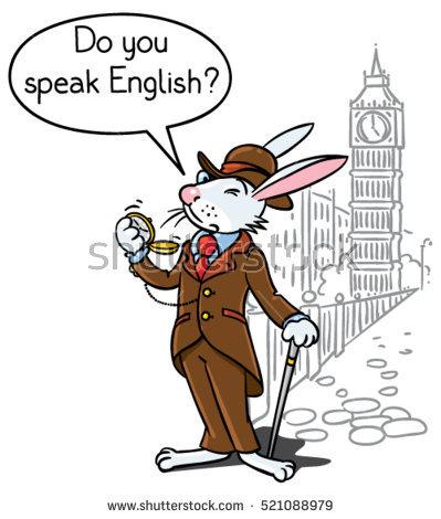 Speak English Stock Images, Royalty.