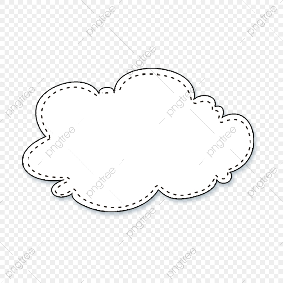 Speech Bubble, Clouds, White PNG Transparent Image and Clipart for.