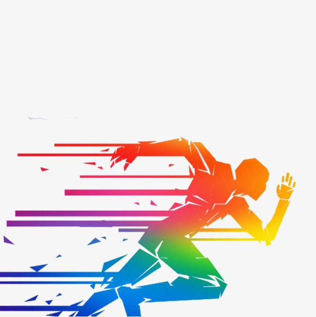 Running Man, Man Clipart, Colored People, Run PNG.