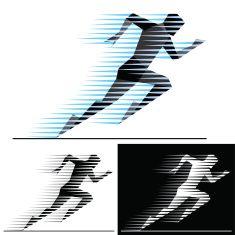 Speed runner vector art illustration in 2019.