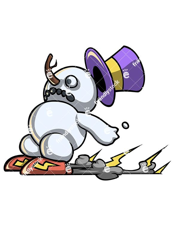 A Funny Speedrunner Snowman Wearing Rocket Shoes That Push.