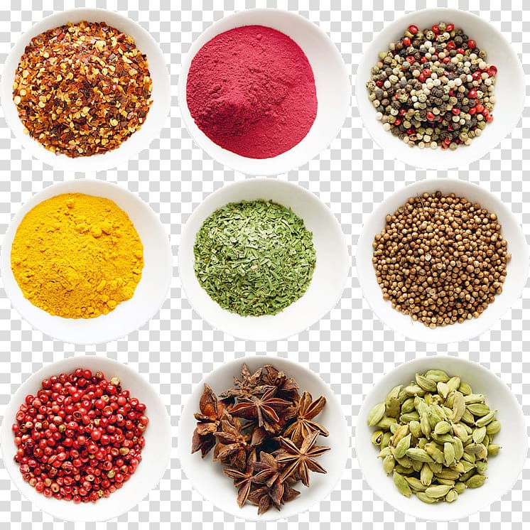 Assorted herbs and spices, Allspice Herb Food Spice mix.