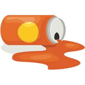Spilled Orange Drink clipart, cliparts of Spilled Orange Drink free.