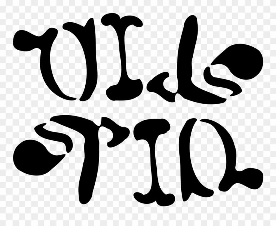 Oil Spill Ambigram Clipart, Vector Clip Art Online,.