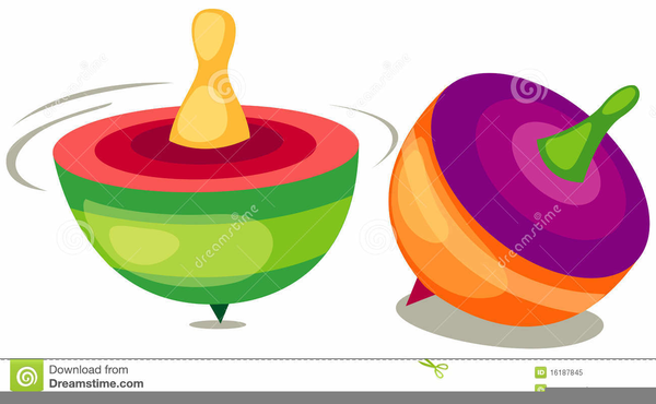 Free Clipart Spinning Top.