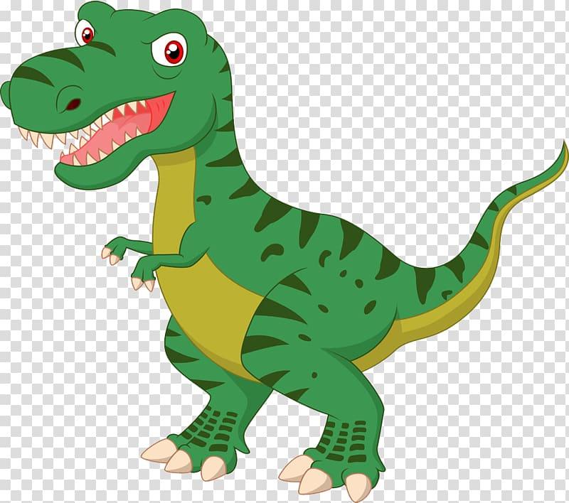 Green dinosaur illustration, Tyrannosaurus Dinosaur.