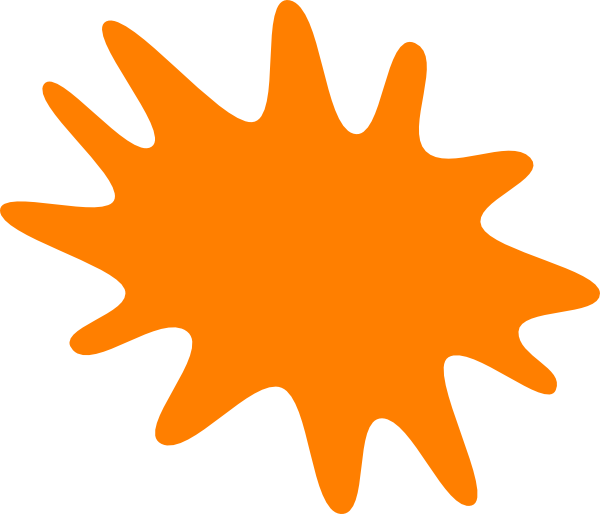 Orange Splash Clip Art at Clker.com.