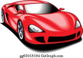 Red Sports Car Clip Art.