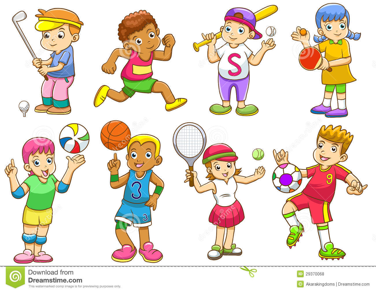 Different Sports Clipart.