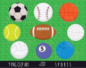 50% SALE SPORTS clipart, sports balls clipart, football, soccer, baseball.