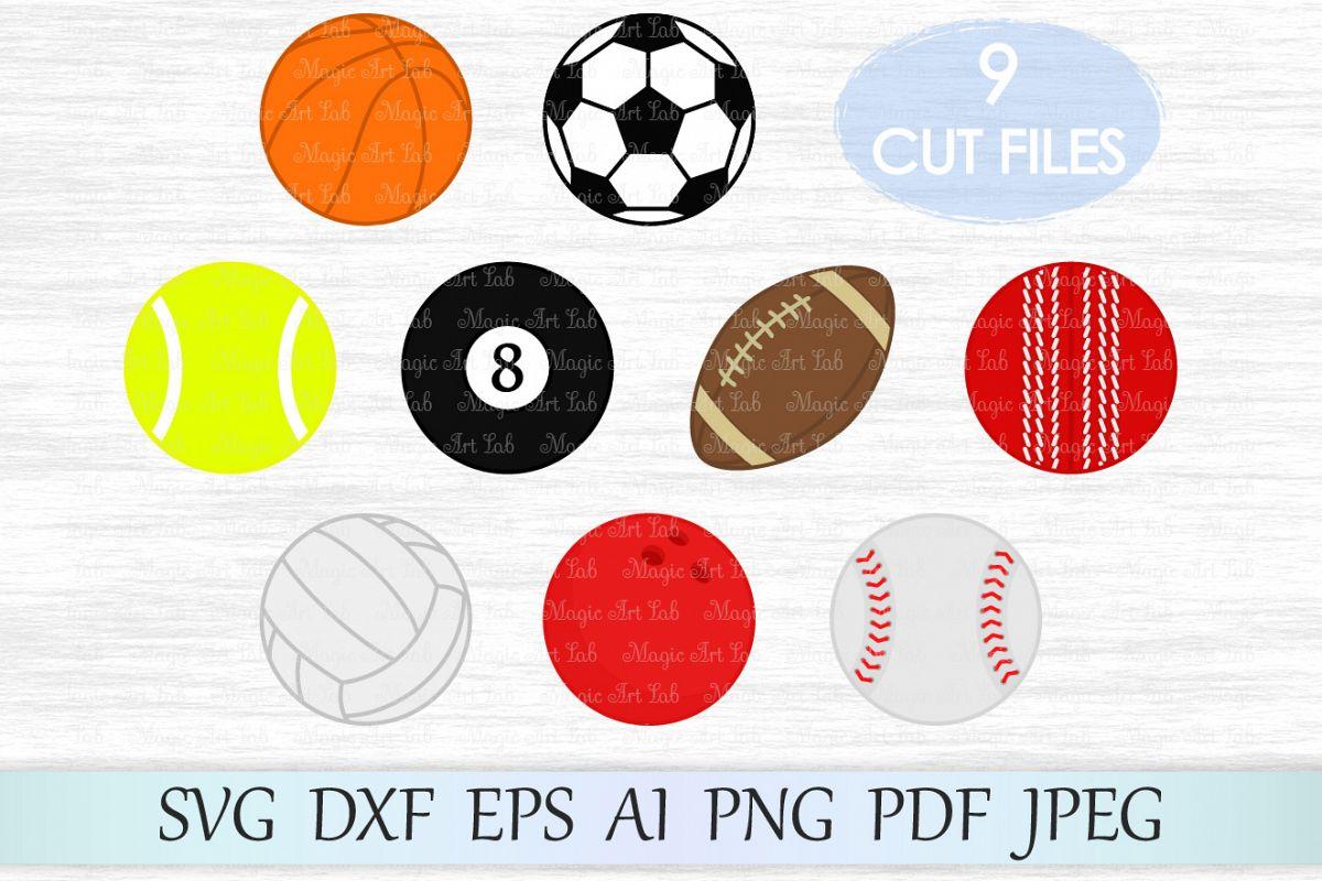 Sport SVG, Balls Clipart, Sport Balls SVG, Balls svg, Sport svg files,  Football Svg, Soccer Svg, Basketball svg, Volleyball svg, Baseball Svg.