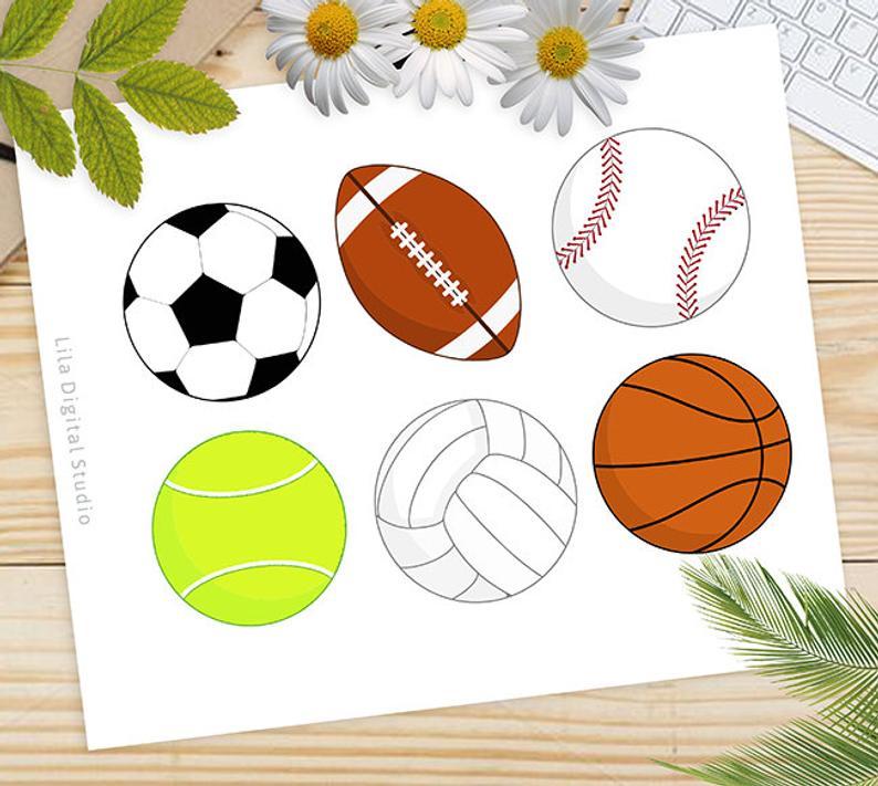 Sports Balls SVG, Balls Clipart, Sports Balls Vector, Balls DXF, All Star  Balls Silhouette, Sports Balls Studio, Sports Cricut, Sports PNG.