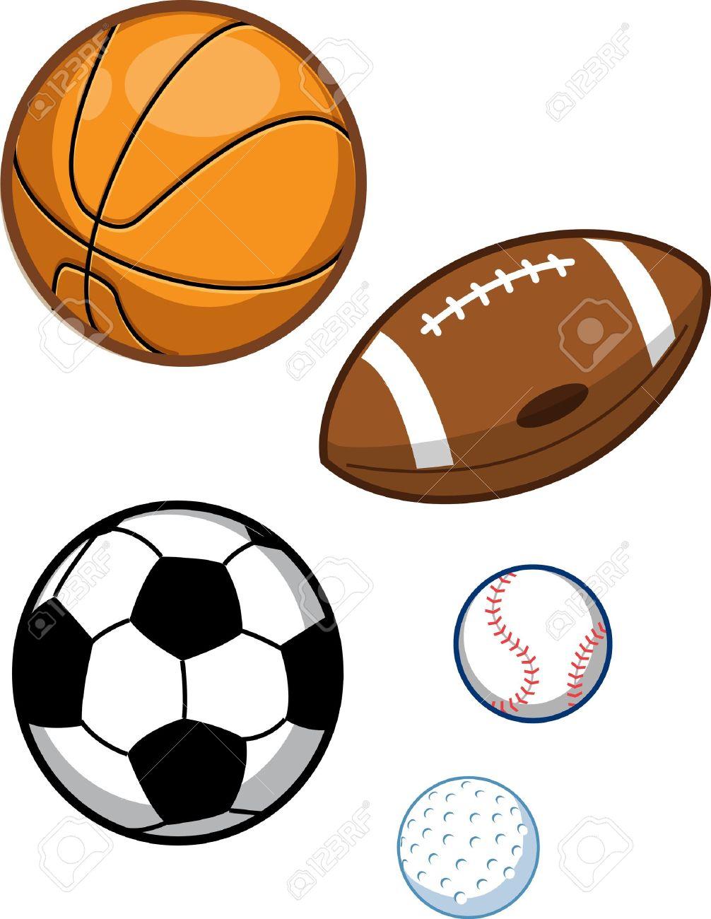 Assorted Sports Balls; Basketball, Football, Soccer Ball, Baseball,...