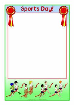Sports Day A4 page borders (SB4764).