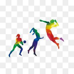 Color Sports Figures, Color Clipart, Sports Clipart, Color.