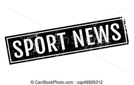 Sport News rubber stamp.