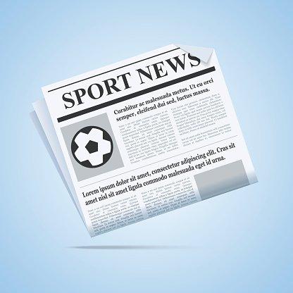 Sport News Newspaper. Clipart Image.