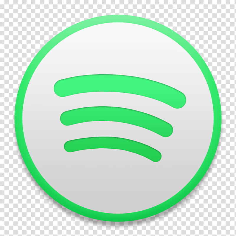 Spotify macOS Style, round black and green Spotify logo.