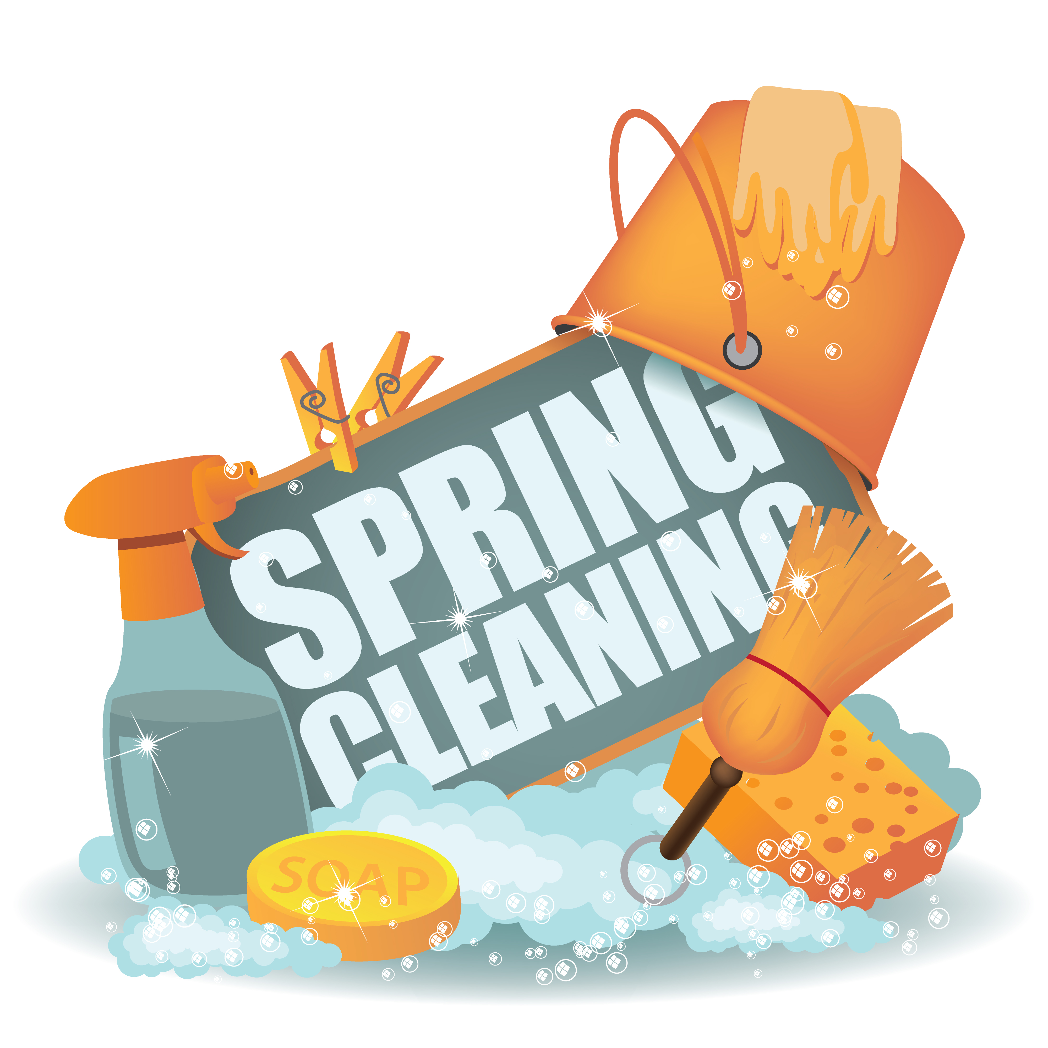 Spring cleaning clipart.