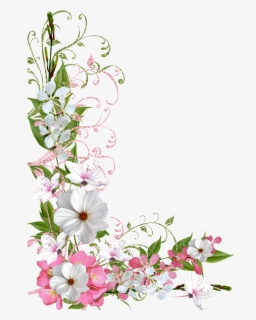 Free Spring Flower Border Clip Art with No Background.
