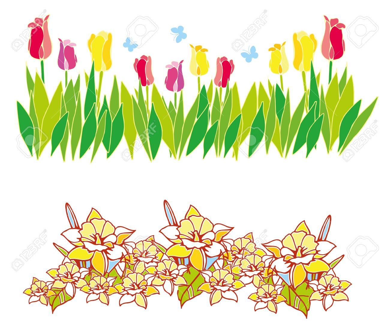 Clipart spring flowers border 4 » Clipart Station.