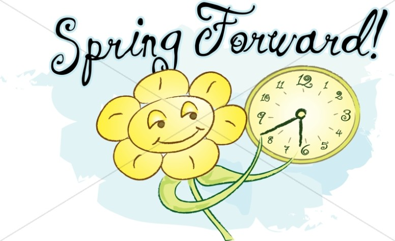 Spring Forward with Happy Flower.
