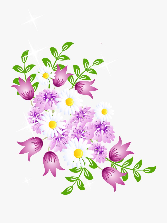 Spring Flower Border Clipart.