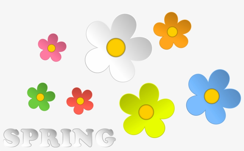Spring And Flowers Decor Png Clipart.