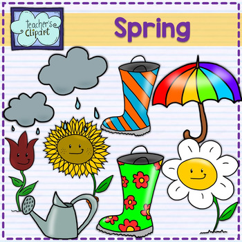 Spring time clipart and borders.