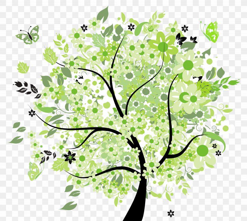 Tree Spring Clip Art, PNG, 7961x7127px, Tree, Branch, Flora.