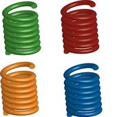 Clipart of Industrial springs coil drawings collection k8863253.