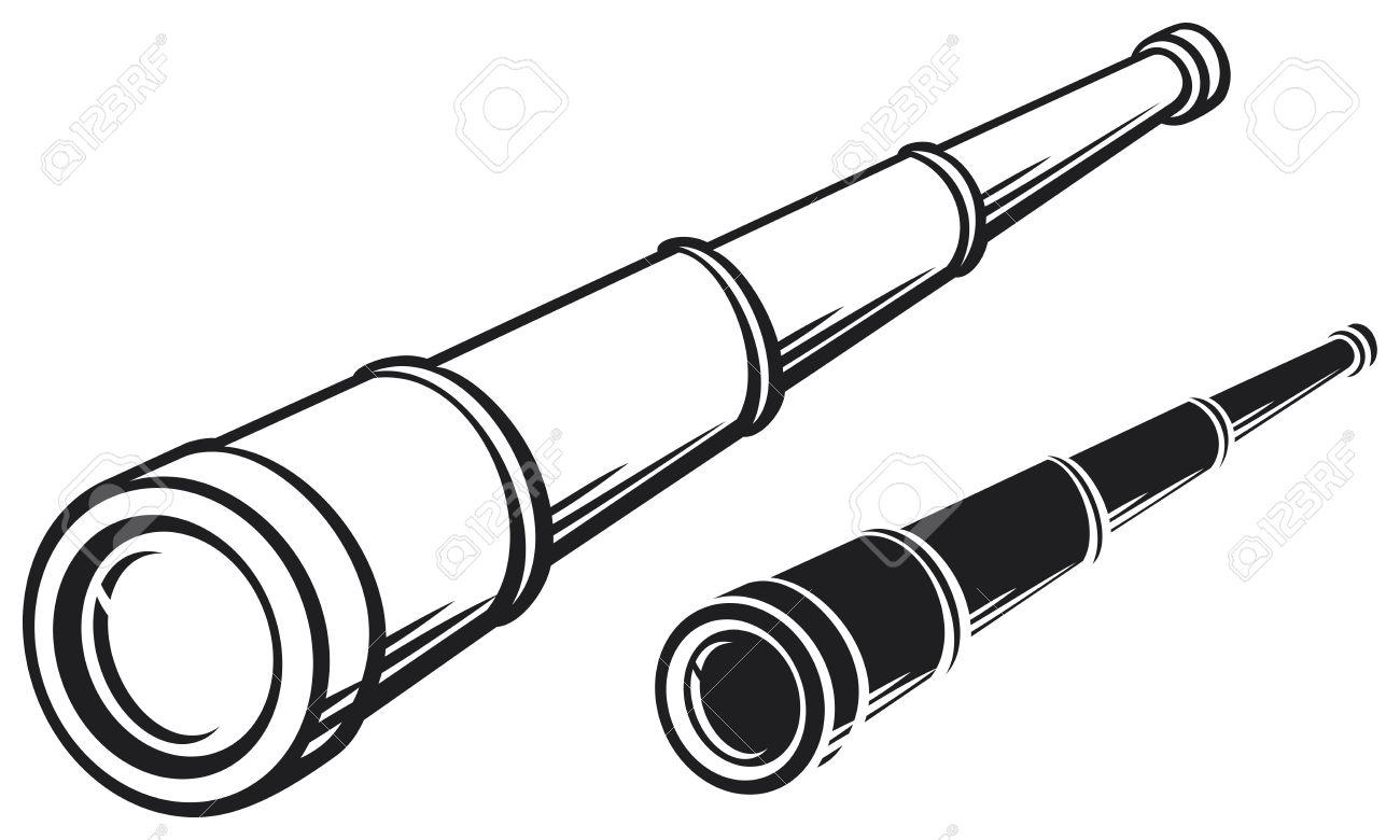 spyglass illustration of a telescope.