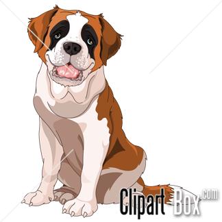 CLIPART SAINT BERNARD DOG.