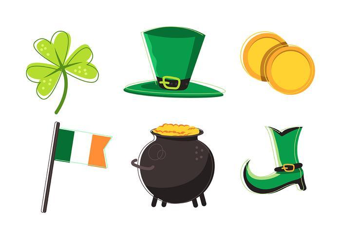 St Patrick's Day Clipart Set.