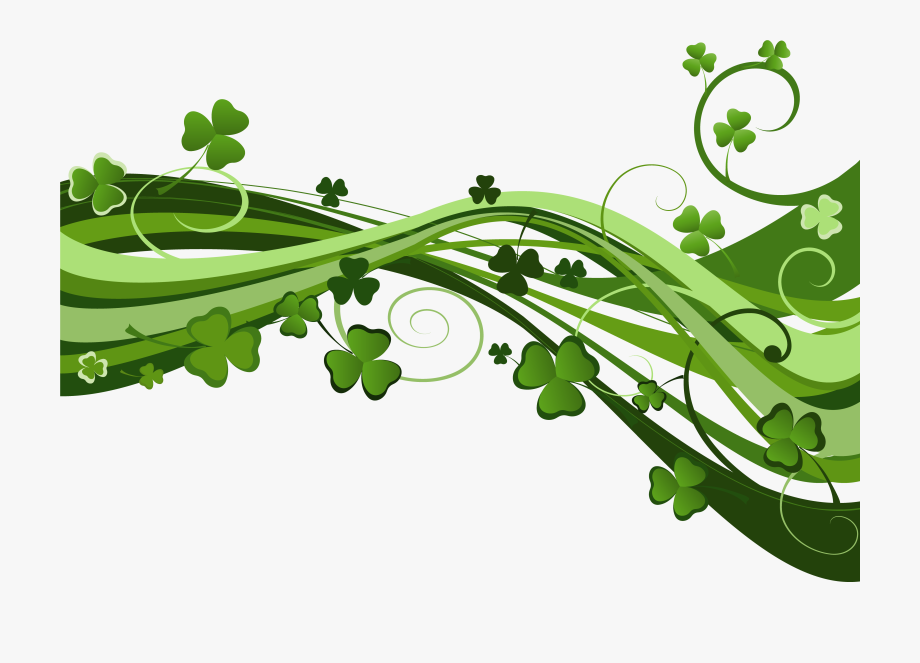 St Patricks Day Shamrock Decor Png Clipart.