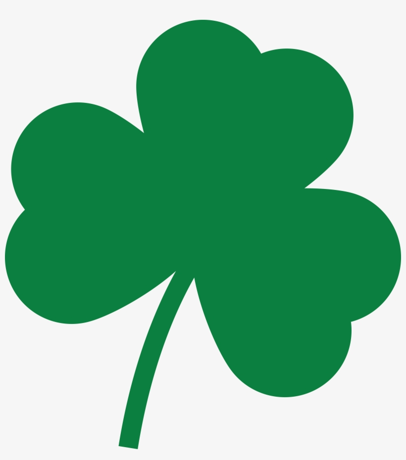 Free Clipart Of A St Paddys Day Solid Green Shamrock.