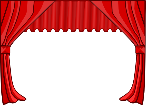 Stage Curtain Clipart Black And White <b>theater curtain.