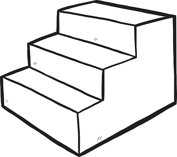 Best Black And White Staircase Illustrations, Royalty.