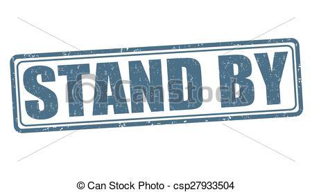 Vector Clipart of Stand by stamp.