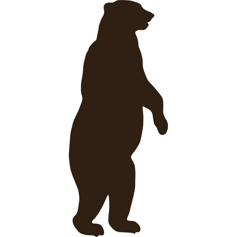 Free Bear Standing Silhouette, Download Free Clip Art, Free.