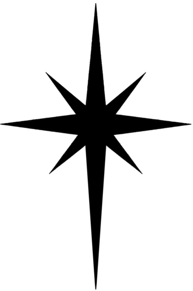 Christmas North Star Clipart.