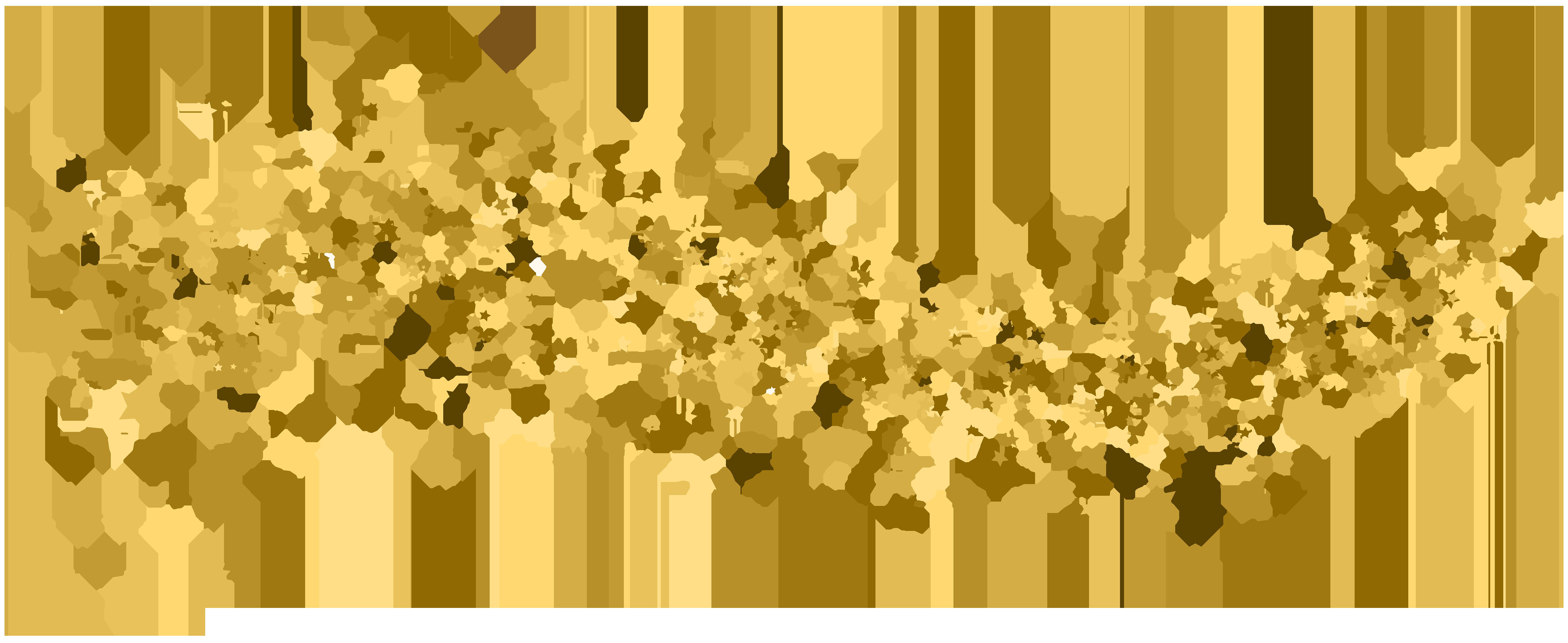 Deco Stars Transparent Clip Art Image.