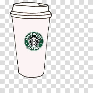 Overlays tipo , StarBucks Coffee cup transparent background PNG.