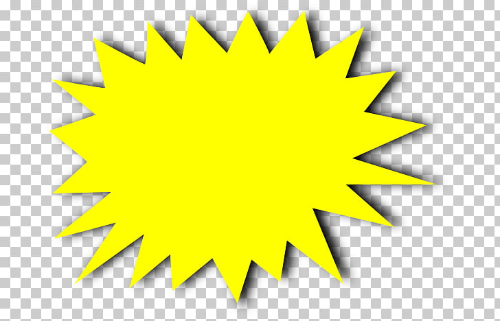 Callout Quilting , Starburst s, yellow explosion PNG clipart.