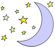 clipart stars and moon #11