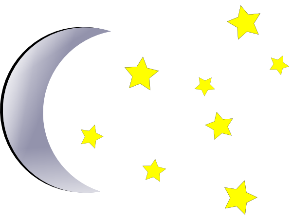 Stars and Moon Clipart.