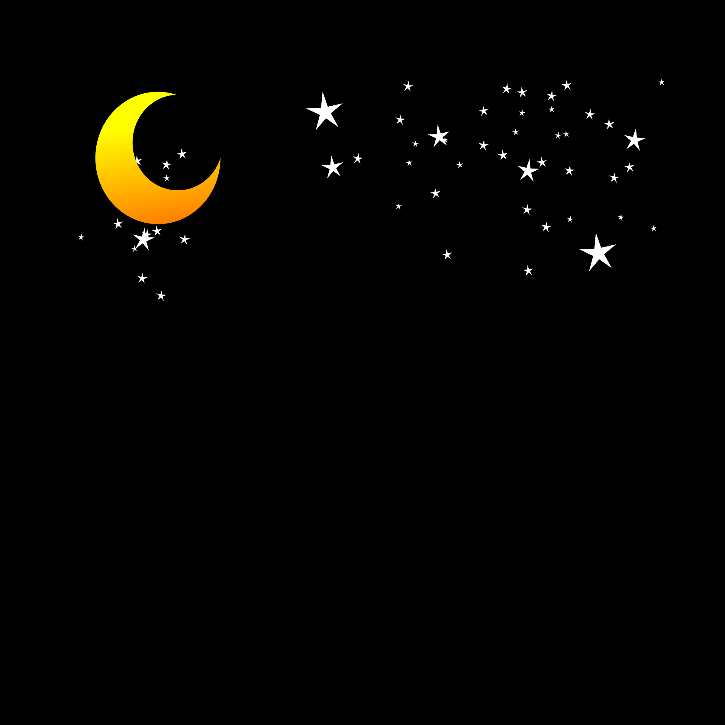 Free Images Stars and Moon Clipart.