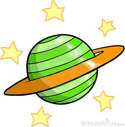 Planets and Stars Clipart.